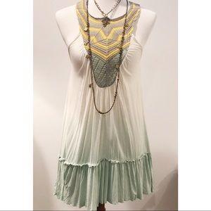 Free People Crochet bib Ombré Dress